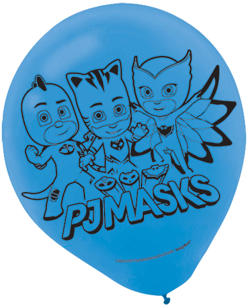 PJ Masks Latex Balloons 6ct - PJ MASK - Party Supplies - America Likes To Party