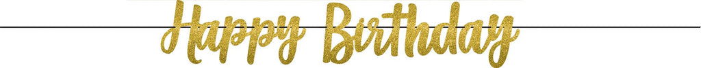 Premium Gold Birthday Banner - SPARKLING CELEBRATION - Party Supplies - America Likes To Party