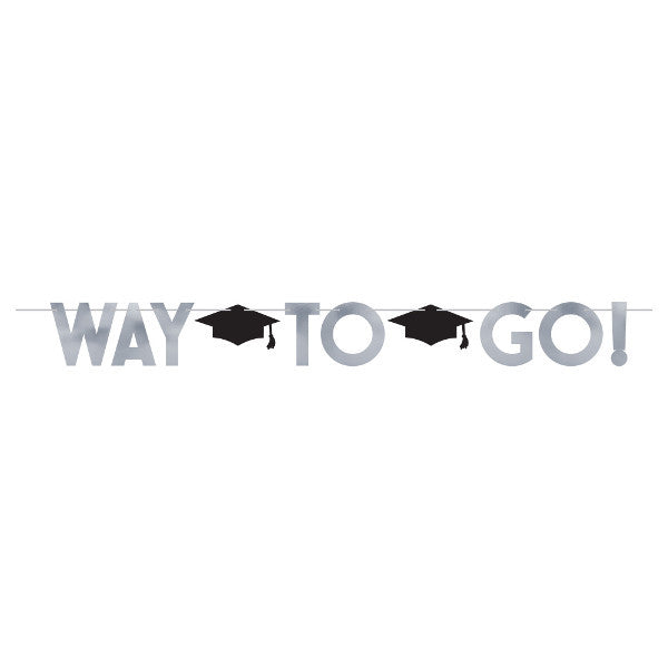 Way To Go Graduation Letter Banner