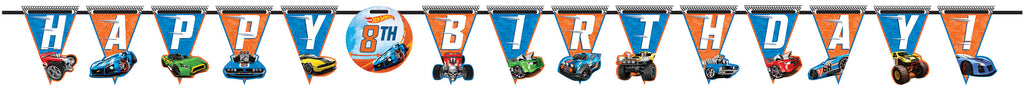Hot Wheels Birthday Banner - *HOT WHEELS - Party Supplies - America Likes To Party