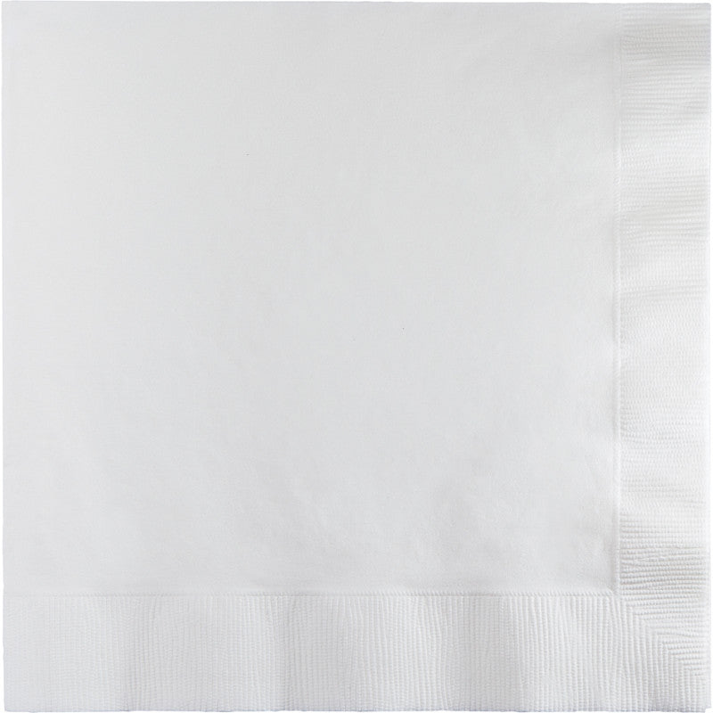 Frosty White Beverage Napkins 50ct - WHITE .08 - Party Supplies - America Likes To Party