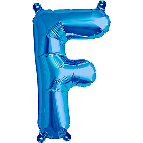 Air-Filled Blue Letter F Balloon - MEGALOON NUMBERS/LETTERS - Party Supplies - America Likes To Party