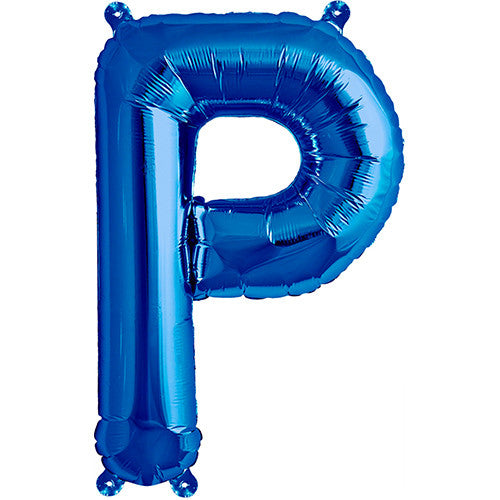 Air-Filled Blue Letter P Balloon - MEGALOON NUMBERS/LETTERS - Party Supplies - America Likes To Party