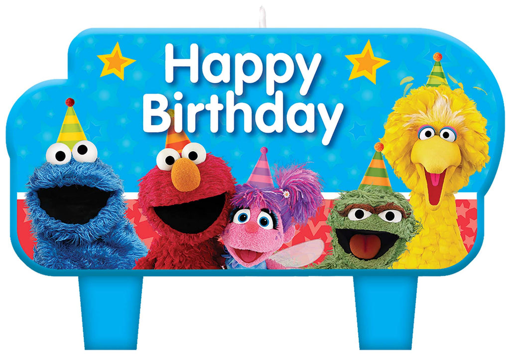 Sesame Street Birthday Candle Set 4ct - SESAME STREET - Party Supplies - America Likes To Party