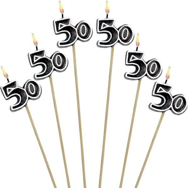 """50"" Toothpick Candles 6ct"