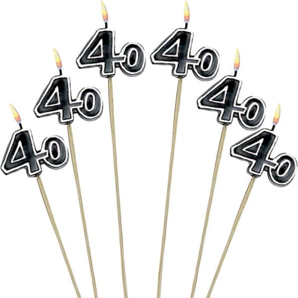 """40"" Toothpick Candles 6ct"