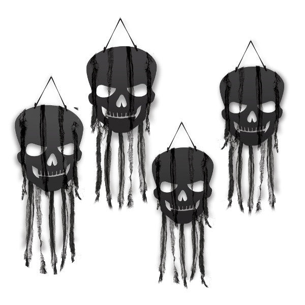 Hanging Black Skull Decorations