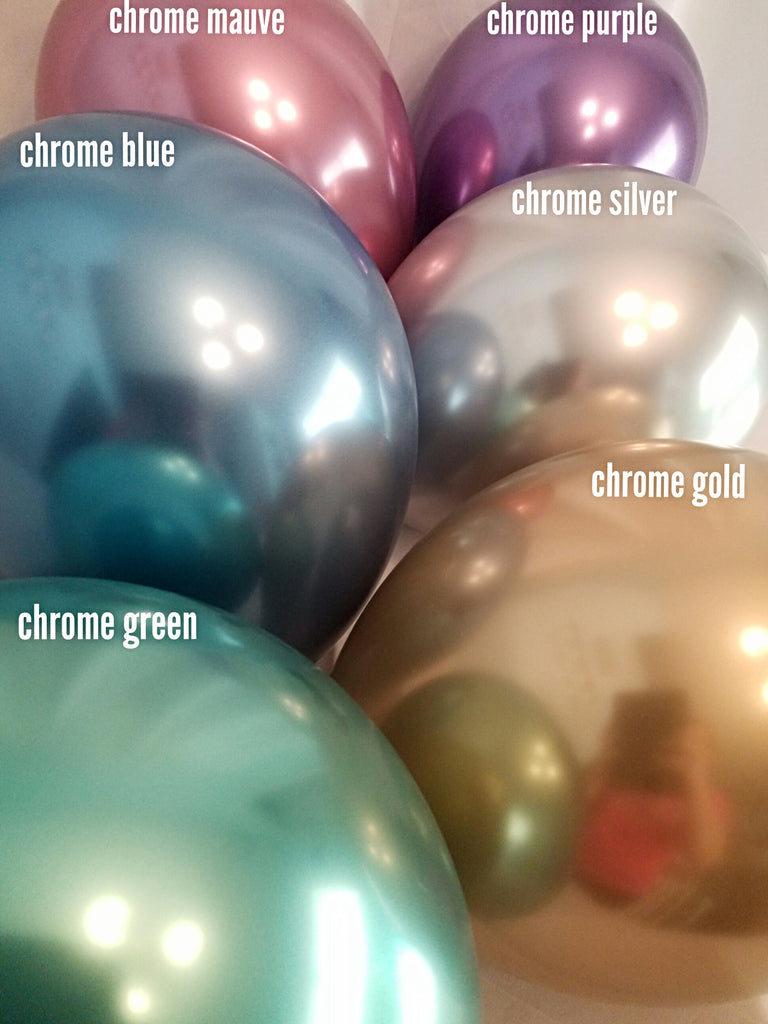 Inflated Chrome Gold Latex Balloon