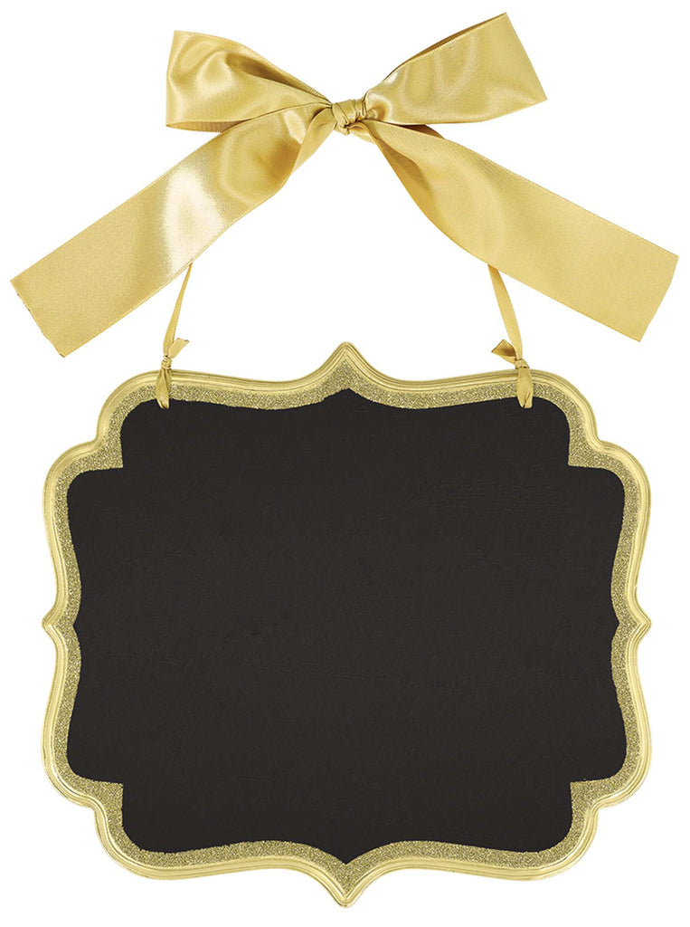 Large Gold Wooden Chalkboard Sign - ACCESSORIES WEDDING - Party Supplies - America Likes To Party