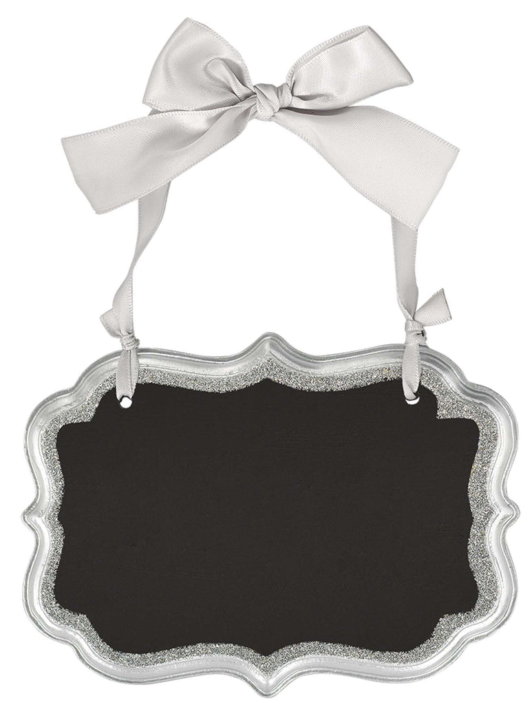 Medium Silver Wooden Chalkboard Sign - ACCESSORIES WEDDING - Party Supplies - America Likes To Party