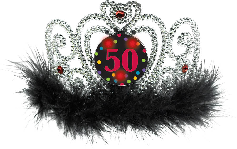 """50"" Light Up Tiara - NOVELTY ACCESS/GIFTS - Party Supplies - America Likes To Party"