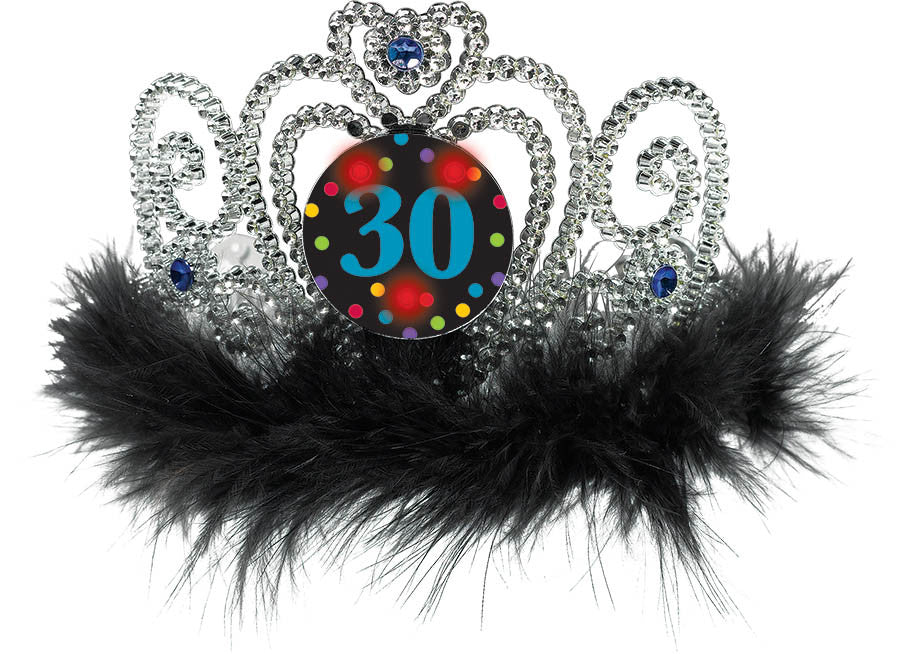 """30"" Light Up Tiara - NOVELTY ACCESS/GIFTS - Party Supplies - America Likes To Party"