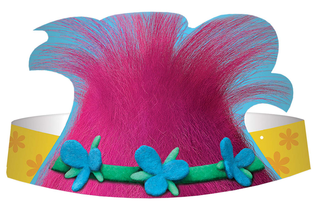 Trolls Party Hats 8ct - TROLLS - Party Supplies - America Likes To Party