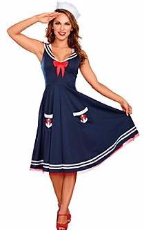 Adult All Aboard Sailor Costume - ADULT FEMALE - Halloween & Party Costumes - America Likes To Party