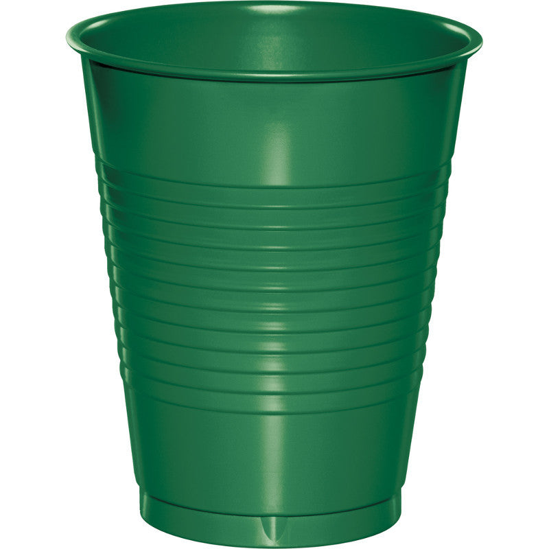Festive Green Plastic 16oz Cups 20ct - GREEN FESTIVE .03 - Party Supplies - America Likes To Party