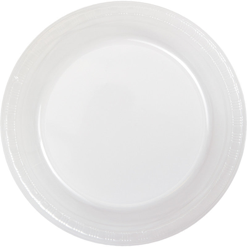 Clear Plastic Dinner Plates 20ct - CLEAR .86 - Party Supplies - America Likes To Party