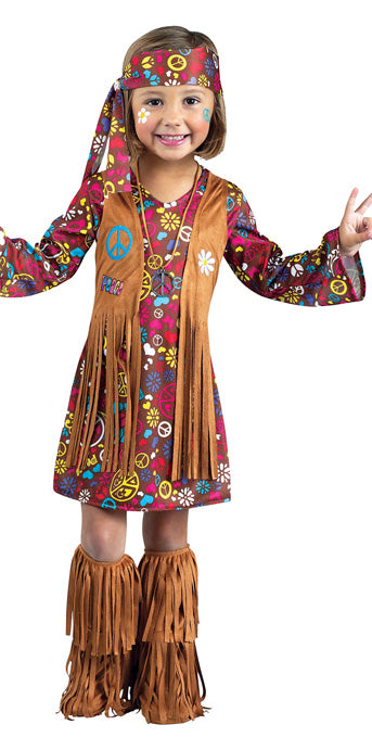 Child Peace & Love Hippie Costume - GIRLS - Halloween & Party Costumes - America Likes To Party