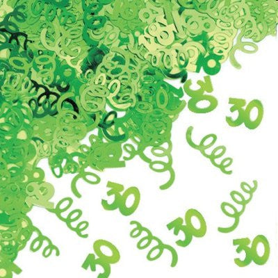 30th Birthday Confetti - Green - CONFETTI - Party Supplies - America Likes To Party