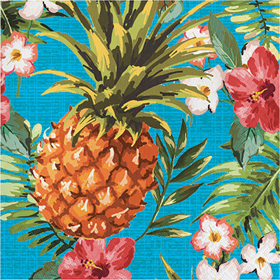 Aloha Pineapple Lunch Napkins 16ct - TABLEWARE SUMMER/LUAU - Party Supplies - America Likes To Party
