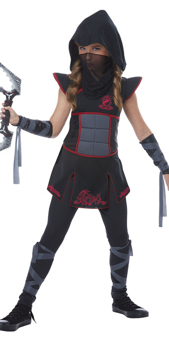 Child Fearless Ninja Black Costume - GIRLS - Halloween & Party Costumes - America Likes To Party