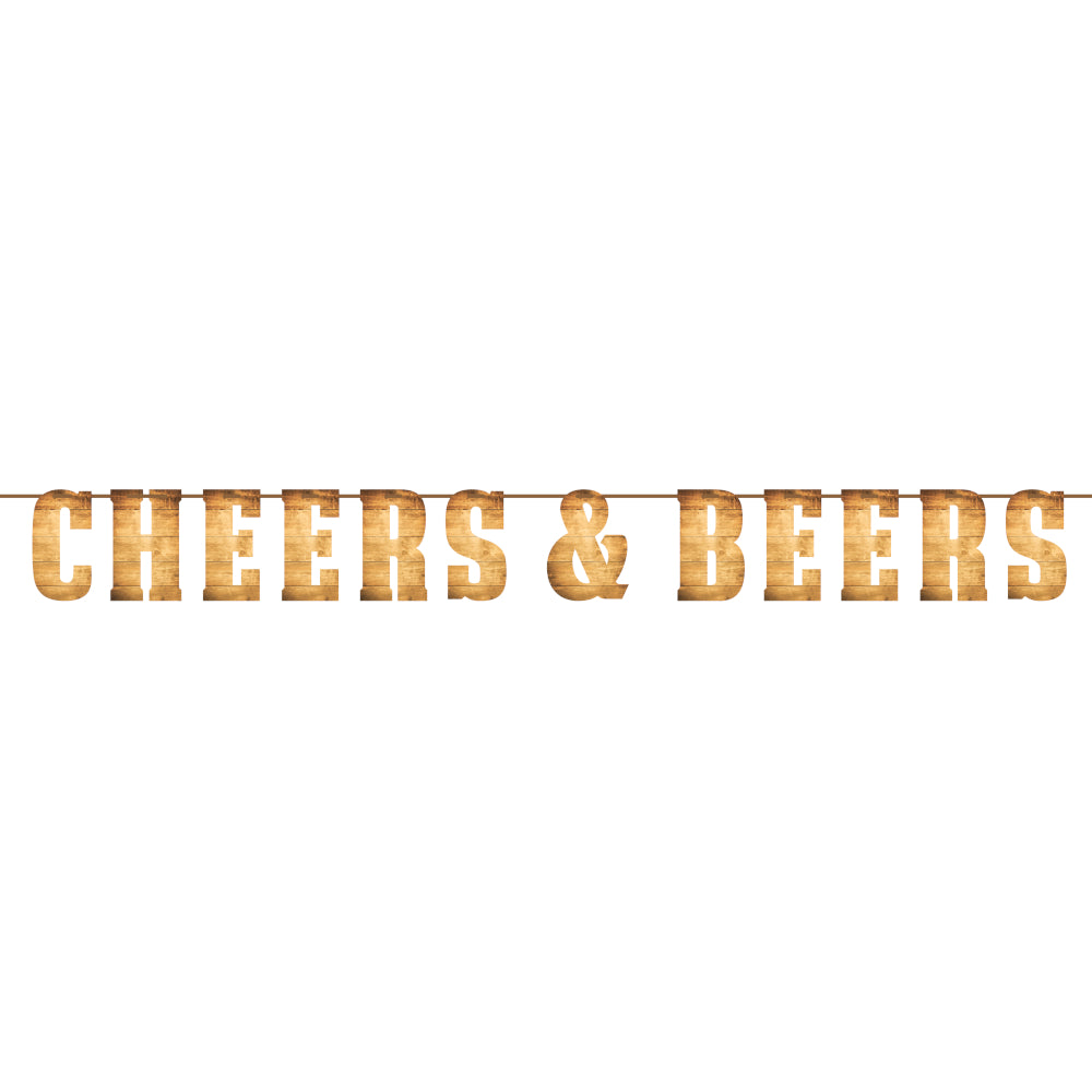 Beers & Cheers Letter Banner