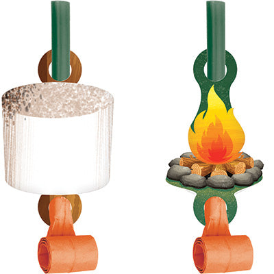 Camp Out Blow Outs 8ct - CAMPFIRE - Party Supplies - America Likes To Party