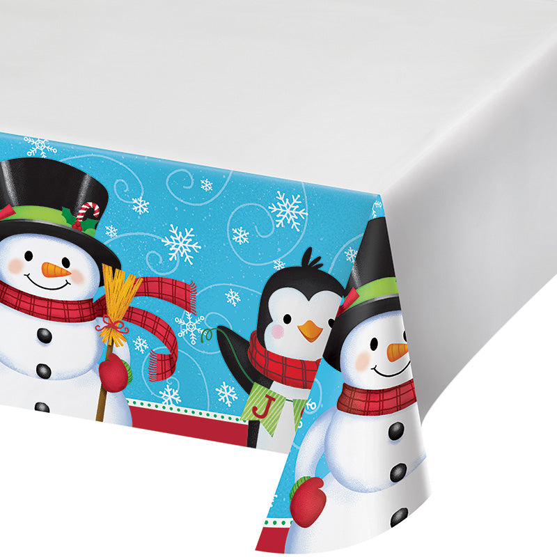 Snowman & Penguin Tablecover
