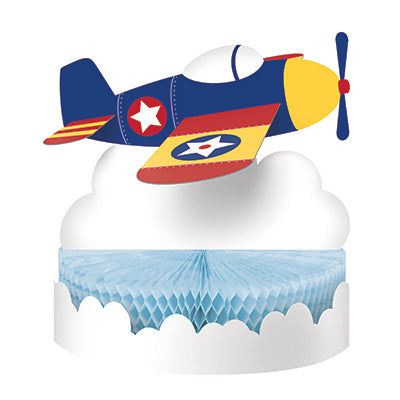 Lil Flyer Honeycomb Centerpiece - AIRPLANES - Party Supplies - America Likes To Party
