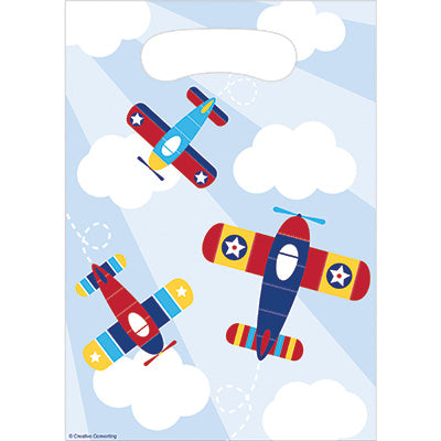 Lil Flyer Loot Bags 8ct - AIRPLANES - Party Supplies - America Likes To Party