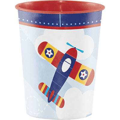 Lil Flyer Plastic Favor Cup - AIRPLANES - Party Supplies - America Likes To Party