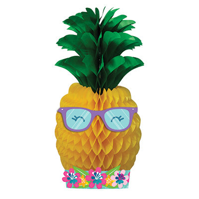 Pineapple 'N' Friends Honeycomb Centerpiece - DECORATIONS SUMMER/LUAU - Party Supplies - America Likes To Party