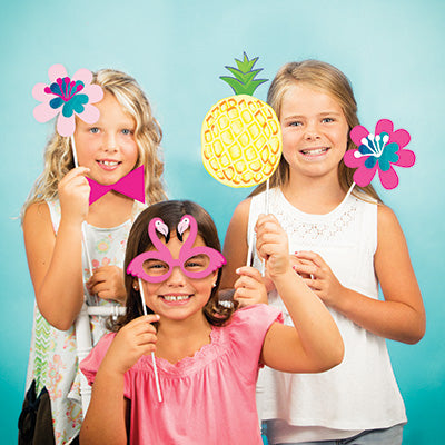 Pineapple 'N' Friends Photo Props 10ct - MISC WEARABLES - Party Supplies - America Likes To Party