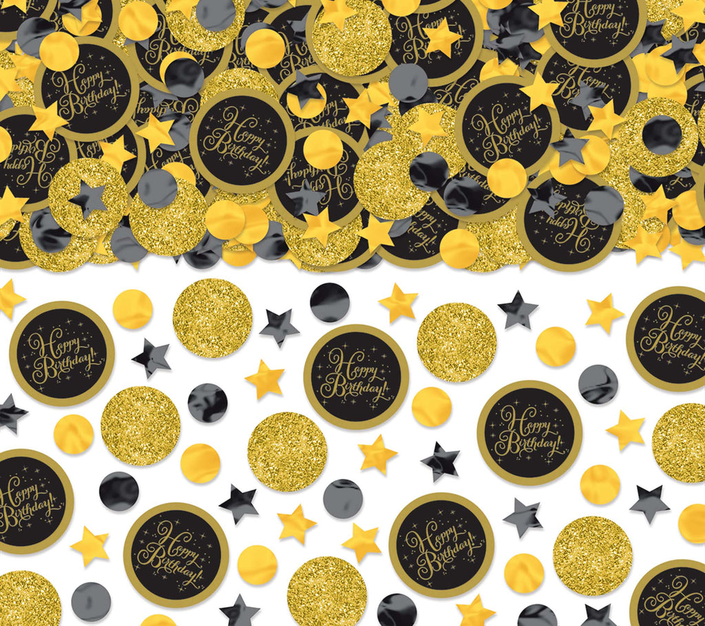 Premium Gold Birthday Confetti - SPARKLING CELEBRATION - Party Supplies - America Likes To Party