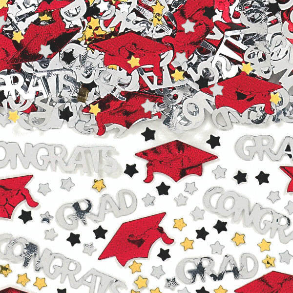Metallic Red Graduation Confetti