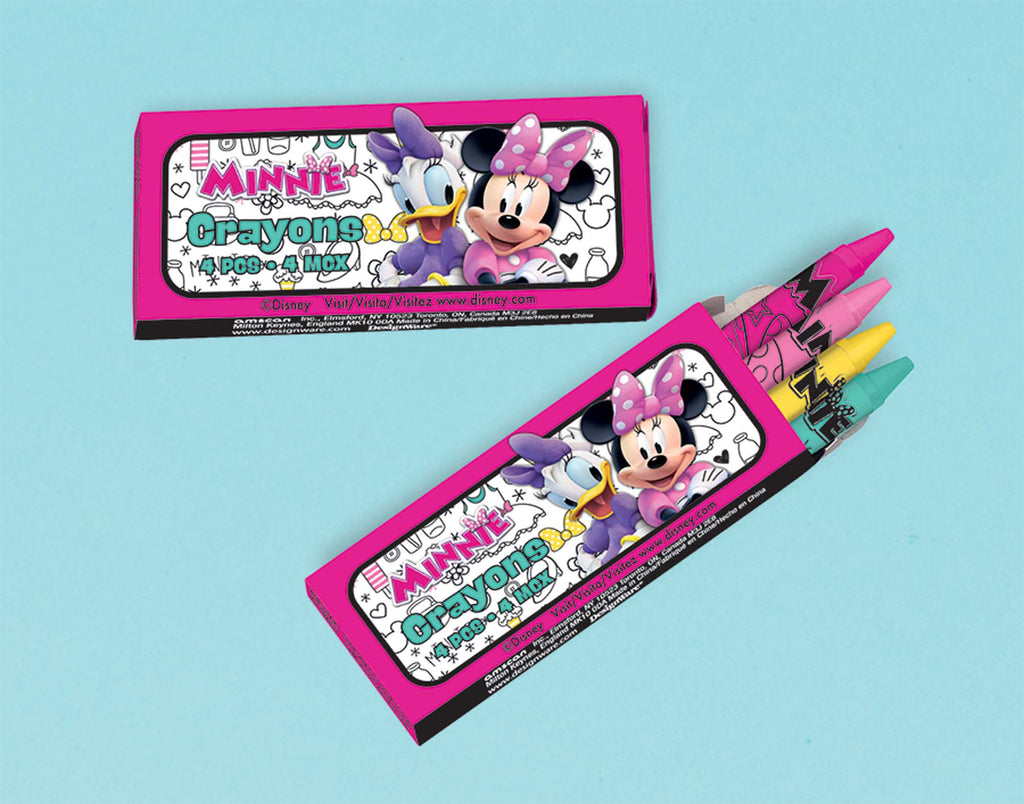 Minnie Mouse Crayons 12ct - MINNIE MOUSE - Party Supplies - America Likes To Party