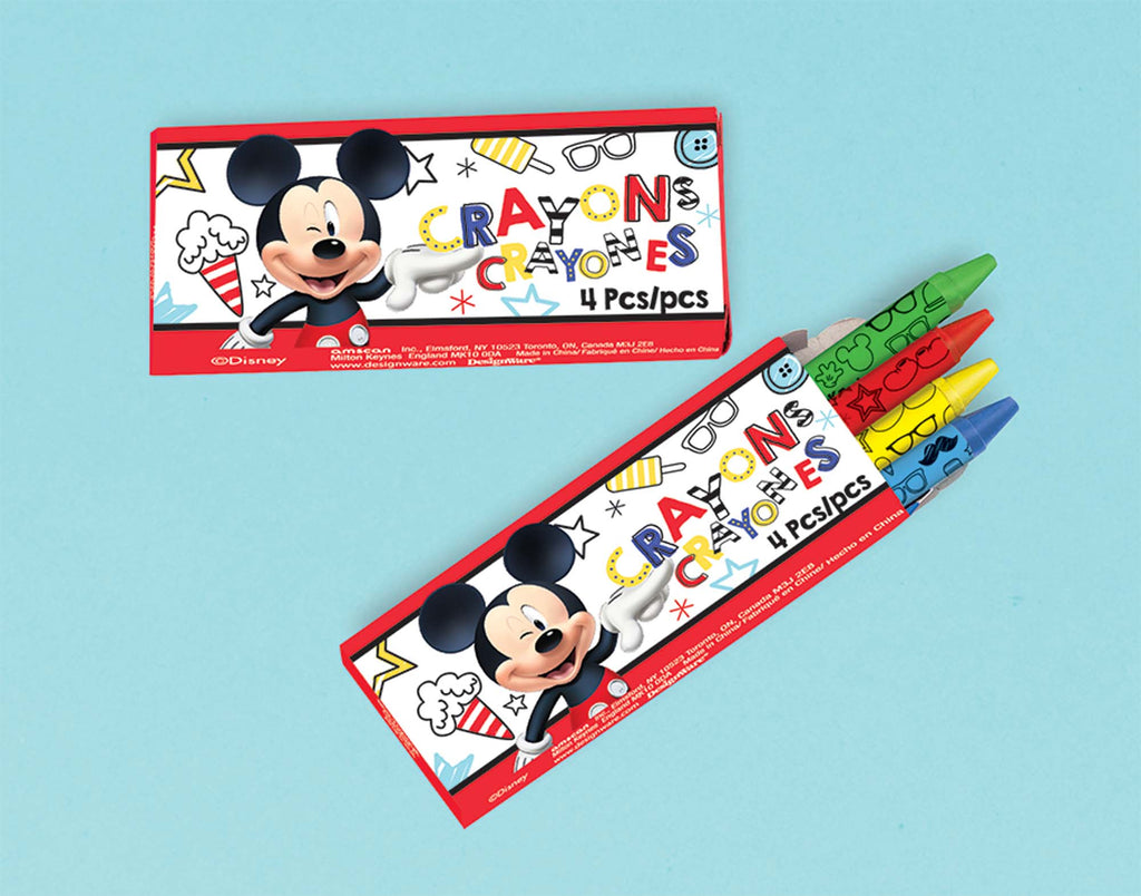 Mickey Mouse Crayons 12ct - MICKEY MOUSE - Party Supplies - America Likes To Party