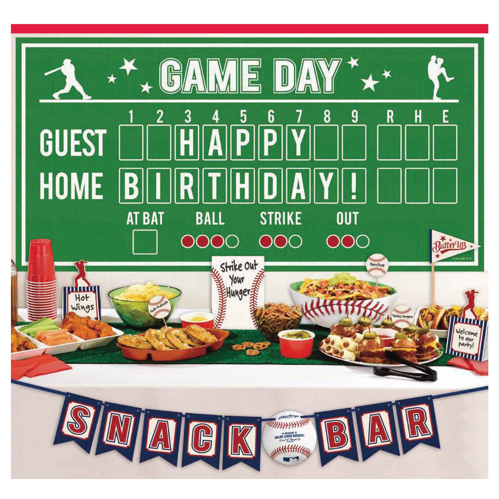 Baseball Buffet Decorating Kit