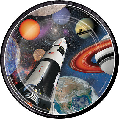 Space Blast Dessert Plates 8ct - SPACE BLAST - Party Supplies - America Likes To Party