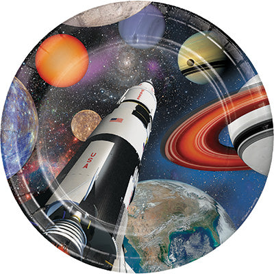 Space Blast Lunch Plates 8ct - SPACE BLAST - Party Supplies - America Likes To Party
