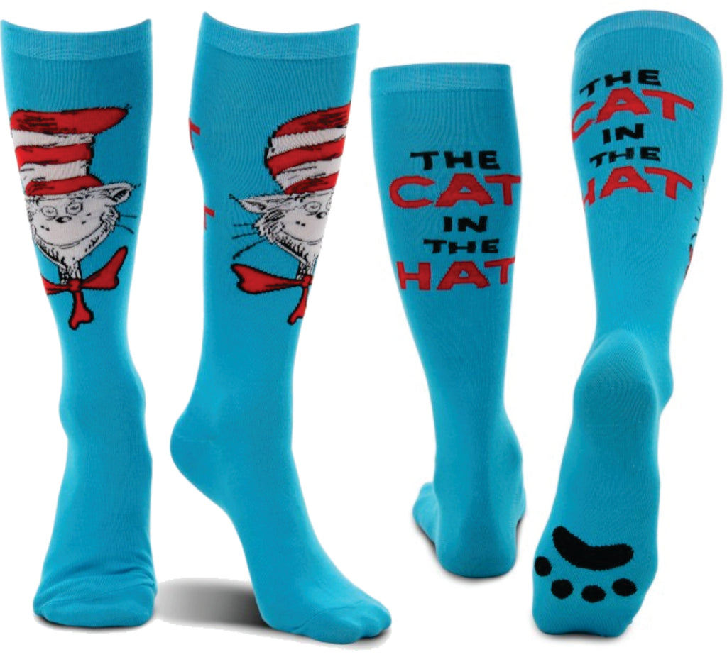 Cat in the Hat Adult Paws Knee Socks