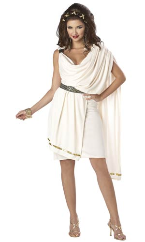 Adult Female Toga Deluxe Costume - ADULT FEMALE - Halloween & Party Costumes - America Likes To Party