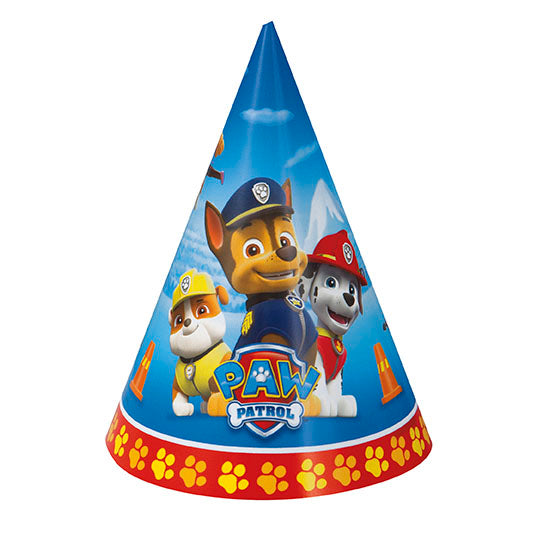 Paw Patrol Cone Hats 8ct - PAW PATROL - Party Supplies - America Likes To Party