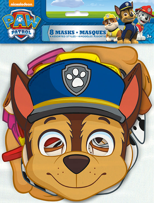 Paw Patrol Paper Masks 8ct - PAW PATROL - Party Supplies - America Likes To Party