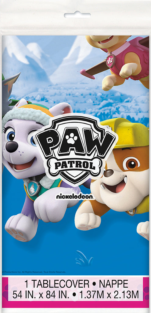 Paw Patrol Pink Table Cover - PAW PATROL - Party Supplies - America Likes To Party