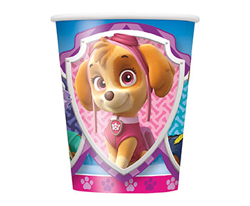 Paw Patrol Pink 9oz Paper Cups 8ct - PAW PATROL - Party Supplies - America Likes To Party