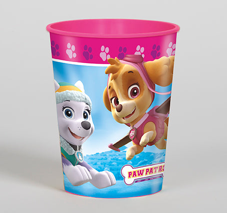 Paw Patrol Pink Plastic Favor Cup - PAW PATROL - Party Supplies - America Likes To Party