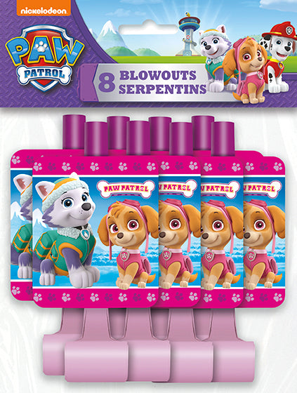 Paw Patrol Pink Blow Outs 8ct - PAW PATROL - Party Supplies - America Likes To Party