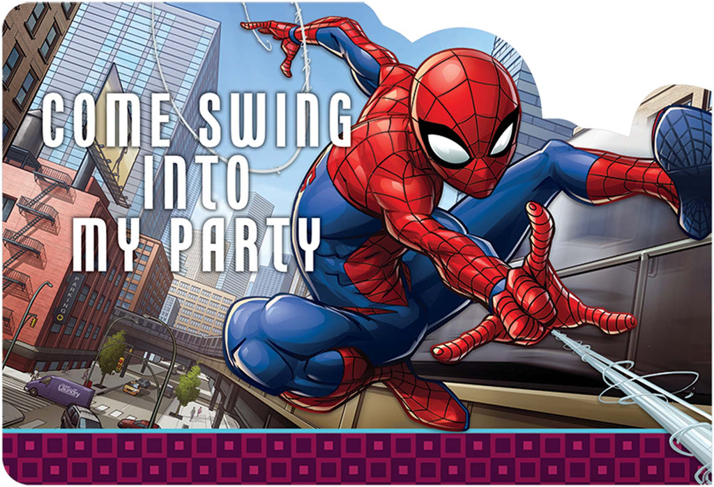 Spider-Man Invitations 8ct - SPIDERMAN - Party Supplies - America Likes To Party