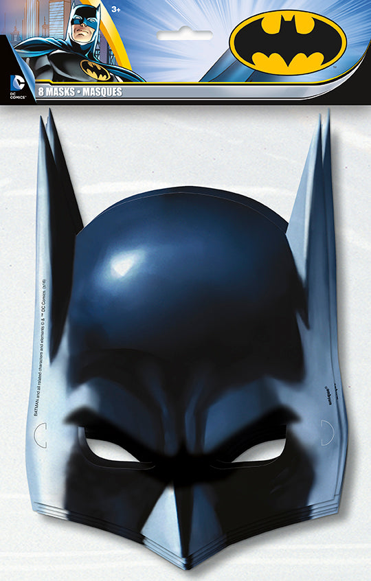Batman Paper Masks 8ct - BATMAN - Party Supplies - America Likes To Party