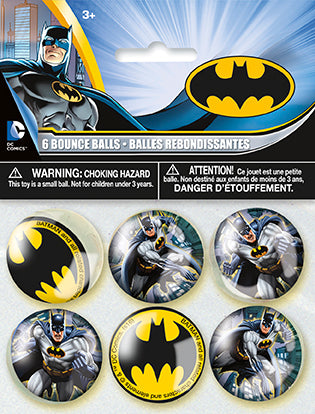 Batman Bounce Balls 6ct - BATMAN - Party Supplies - America Likes To Party